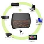 Vontar D8 PLUS беспроводная клавиатура с тачпадом для Смарт ТВ приставок + аккумулятор, купить в Киеве.