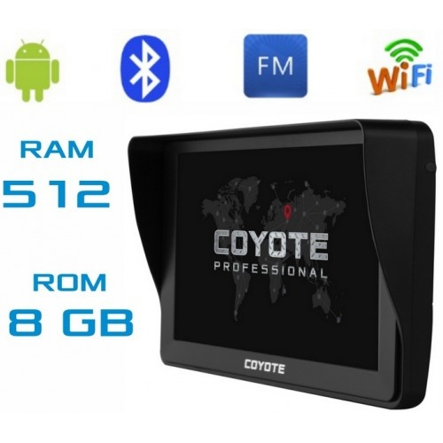 Купить GPS навигатор COYOTE812 TORR 512mb Ram 8Gb Rom Андроид 7 дюймов экран + Full HD с картами навигации 2019 года