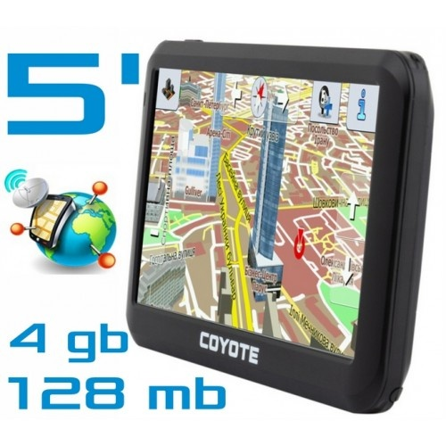 GPS навигатор COYOTE 528 MATE 5 дюймов RAM 128mb ROM 4Gb с картами навигации