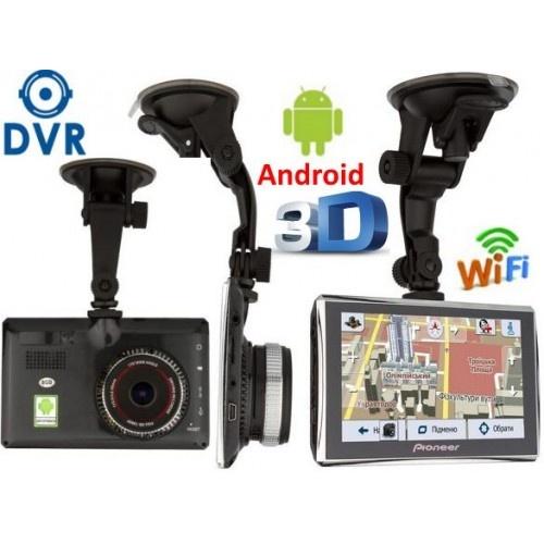 Купити GPS навігатор відеореєстратор 5 дюймов GPS Pioneer M515 DVR 512mb/8GB + AV Андроїд + Full HD з картами навігації 2019 року