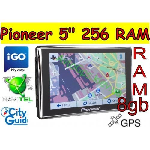 GPS навигатор Пионер 5 дюймов RAM 256mb ROM 8gb. На борту 3 (три) программы навигации!