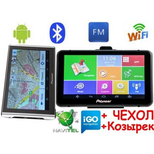 Android GPS навигатор Pioneer M515+AV Андроид 7 дюймов экран + Wifi и Bluetooth с картами навигации 2019 года