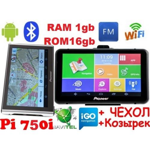 Android GPS навігатор Pioneer Pi700i Pro (750i) + AV 1Gb 16Gb Андроїд 7 дюймів екран + Wifi і Bluetooth з картами навігації 2019 року