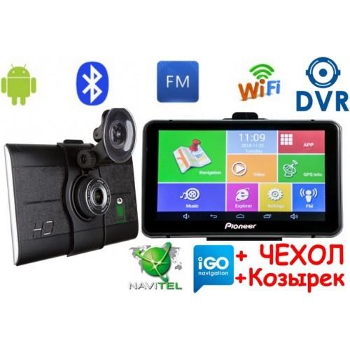 Купити GPS навігатор-відеореєстратор Pioneer M515DVR + AV Андроїд 7 дюймів екран + Full HD з картами навігації 2019 року