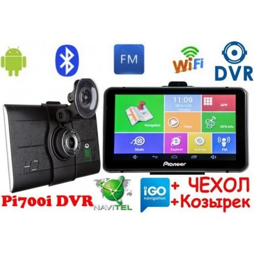 Купить GPS навигатор-Видеорегистратор Pioneer Pi700i DVR+AV Андроид 7 дюймов экран + Full HD с картами навигации 2019 года