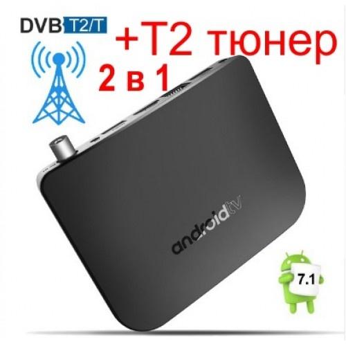 Популярна Смарт ТВ приставка Mecool M8S Plus DVB T2 з Т2 Тюнером + Фільми + Телебачення. Повністю налаштована і готова до роботи
