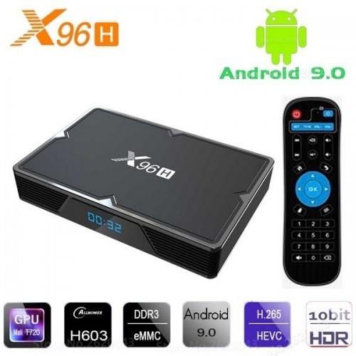 Нова модель Смарт ТВ приставки X96H 2гб / 16Гб на Андроїд 9 для перегляду фільмів телебачення серфінгу в інтернеті