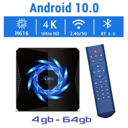 Новая модель Смарт ТВ приставки X96Q MAX 4гб / 64гб на Андроид 10 для просмотра фильмов телевидения серфинга в интернете и игр