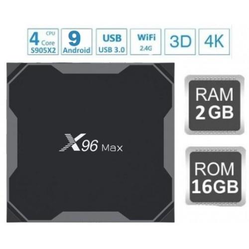 Популярная Смарт ТВ приставка X96 MAX 2гб/16гб для просмотра фильмов телевидения серфинга в интернете